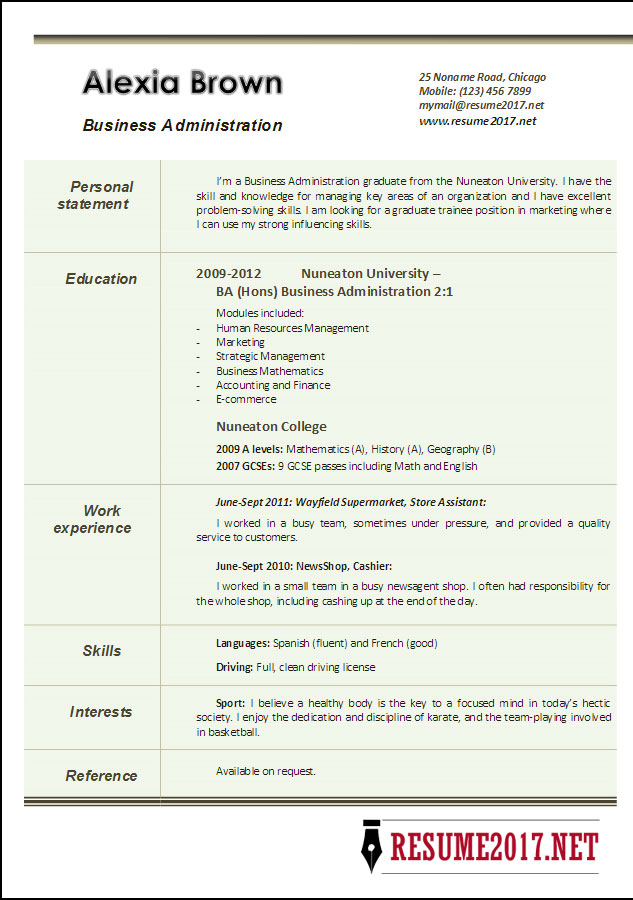Business Resume Amazing Business Resume Examples To Get You Hired