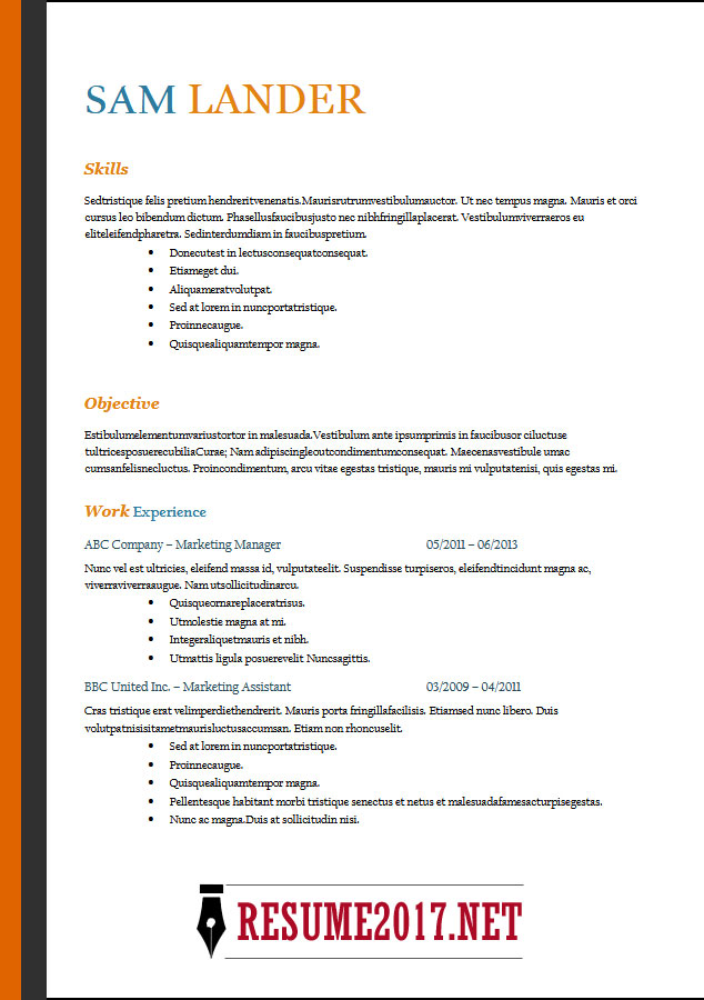 impressive resume templates word