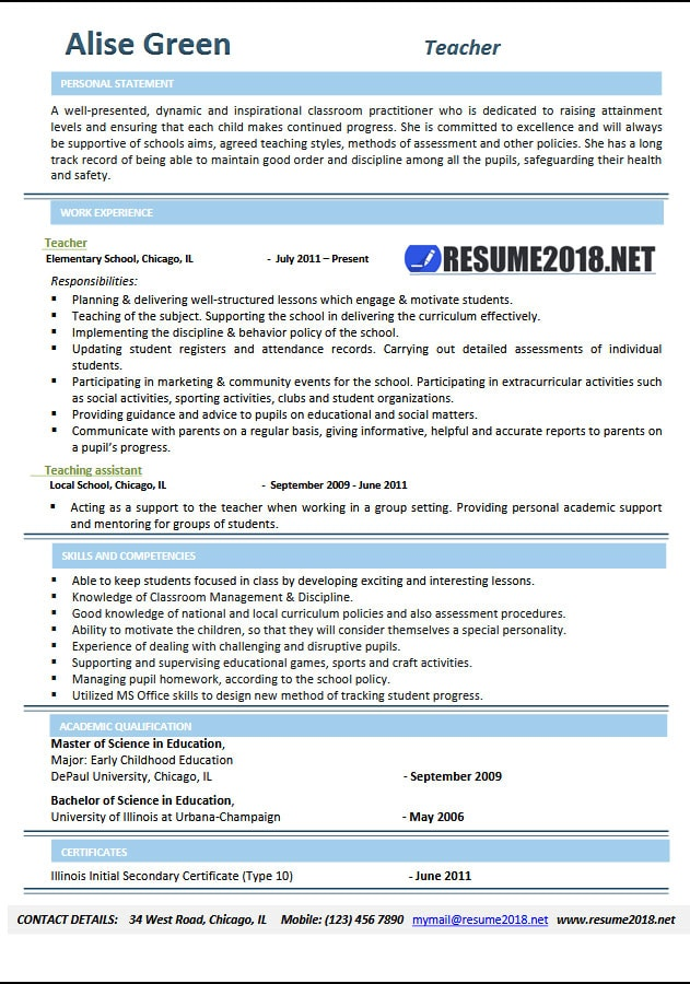 Sample Resume Templates Free Download All New Resume