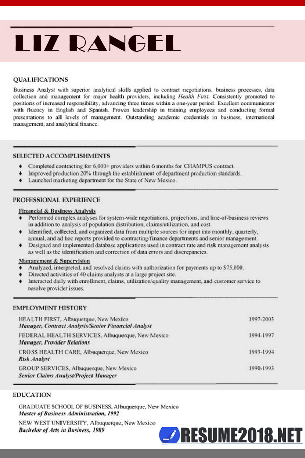 combination resume format template