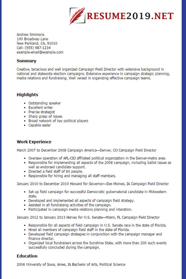 Latest Resume Format 2019 Templates  20 Examples