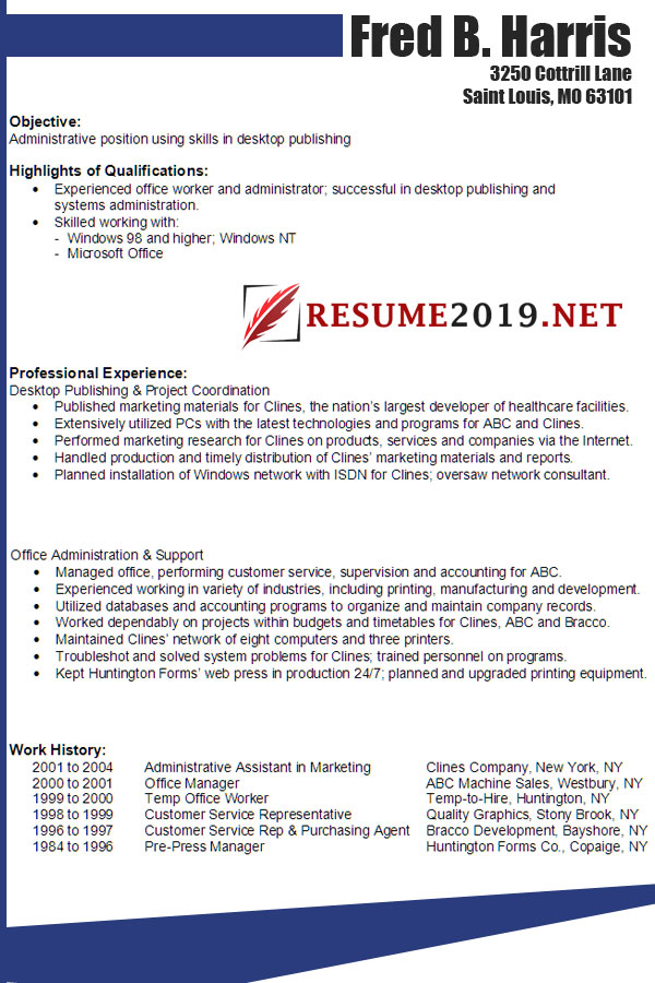 Combination Resume In 2019 Any Benefits? ⋆ Best Resume 2019