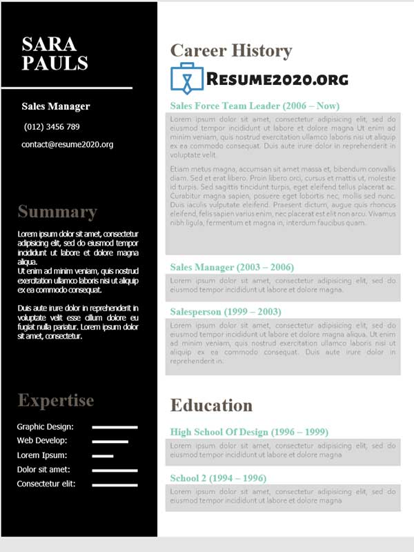 need a good resume template