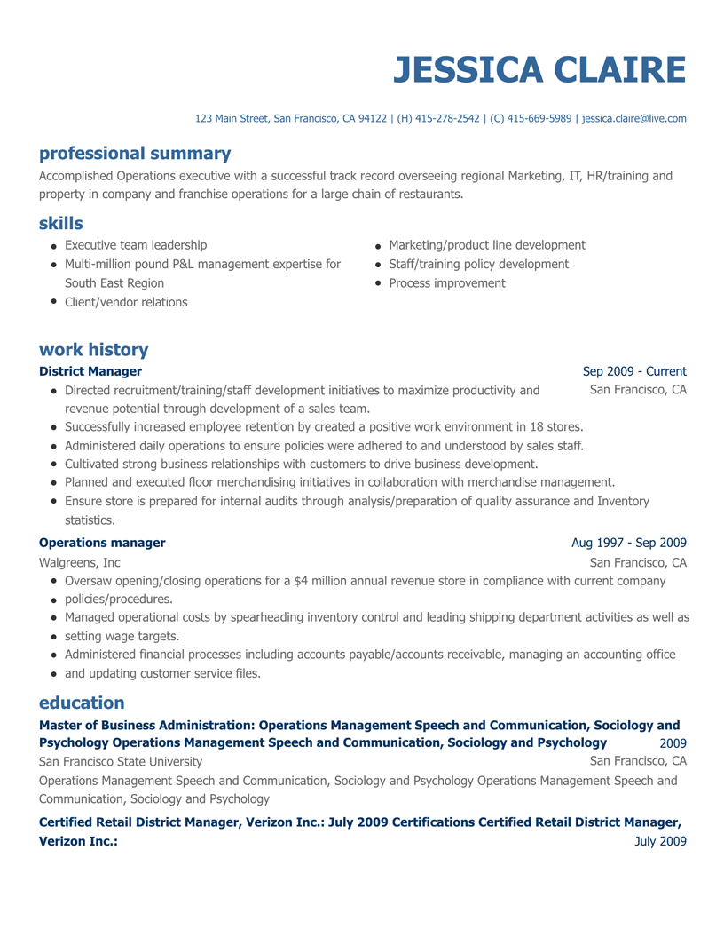 Free Resume Builder Online Create A Professional Resume