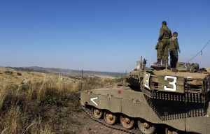 UN observers have documented dozens of interactions between Israeli forces in the occupied Golan Heights and Syria opposition fighters crossing the boundary fence, as far back as 2012. (Atef Safadi EPA)