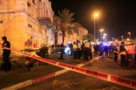 Israeli police tape off the site where Izzedine Abdallah Raddad was slain in Jerusalem on 3 December. Mahfouz Abu Turk APA images