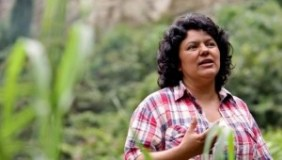 This photo of Honduran environmental activist Berta Caceres accompanied The Nation's expose of the US role in her death. (image: Goldman Environmental Prize)