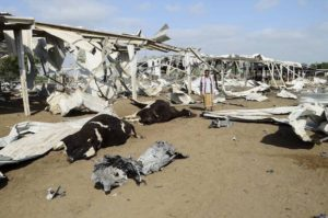 Saudi bombing of food production in Yemen