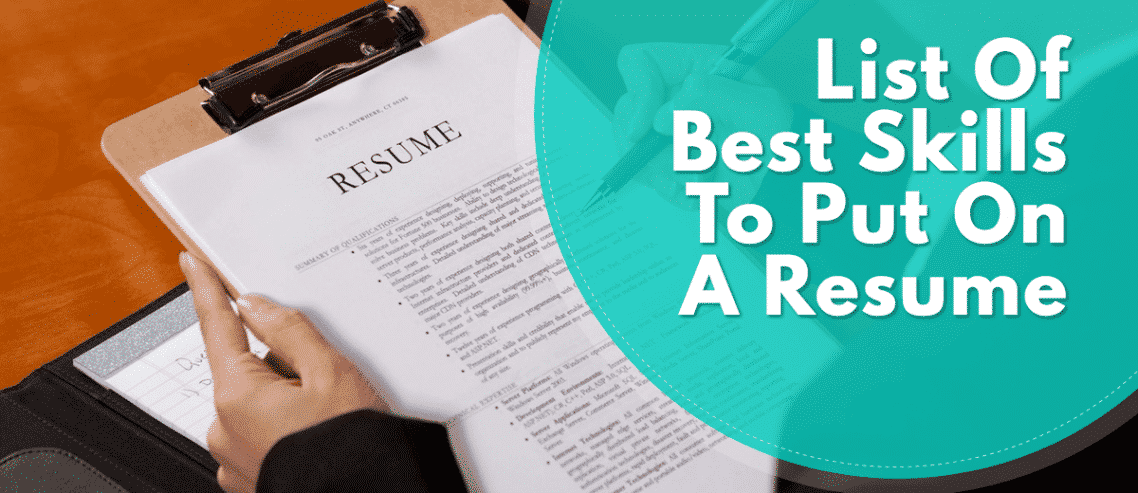 what types of skills to put on a resumes