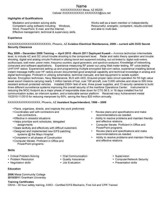 Military Transition Resume Samples Resume Prime