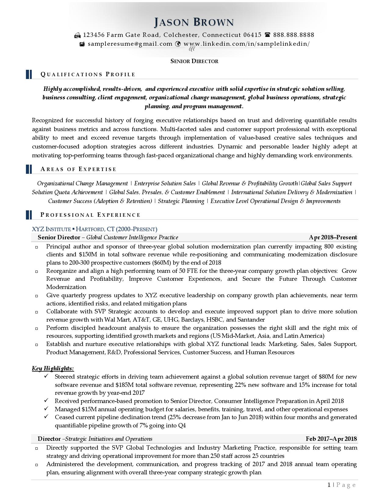 simple ats software friendly resume examples