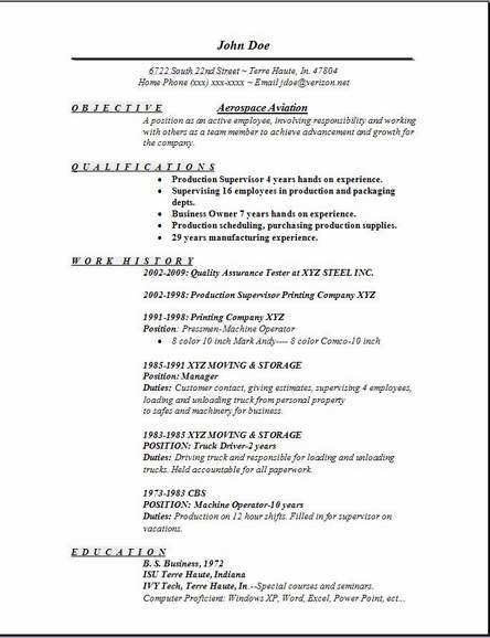 Aviation Resume Examples  Examples Of Resumes
