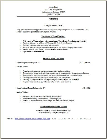 sample resume letter cover