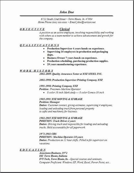 Clerical Resume Examples Samples Free Edit With Word