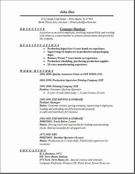 Computer Database Resume Occupationalexamplessamples Free edit with word