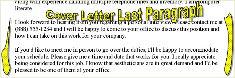 covering letter for a job