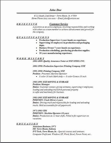 sample resume for customer service jobs unforgettable customer - Customer Service Resumes Examples