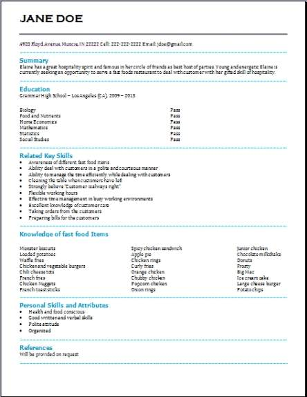 Free High School Resumeexamples samples Free edit with word