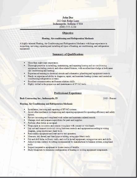 Sheet Metal Resume Examples