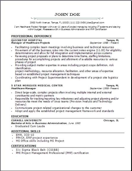 Medical Professional Resume Occupational Examples Samples