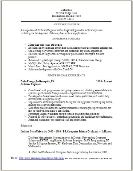sample area of interest in resume