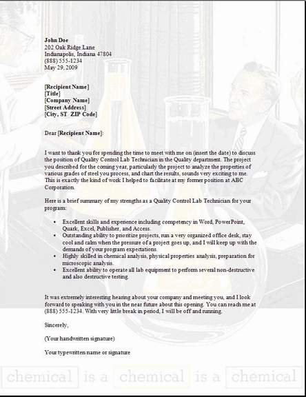 thank you letter for resume review sample