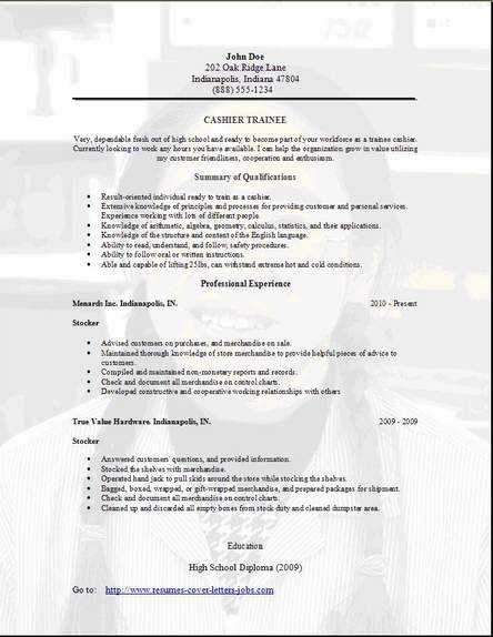 Trainee Resume Occupationalexamples samples Free edit