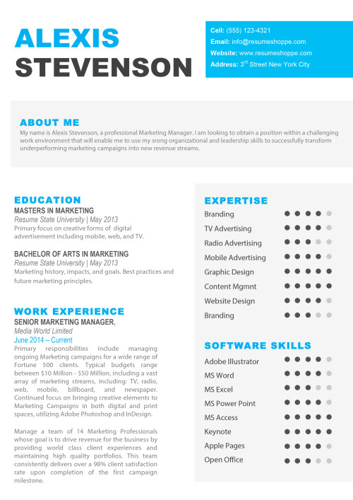 Resume Templates for Mac Word  Apple Pages Instant
