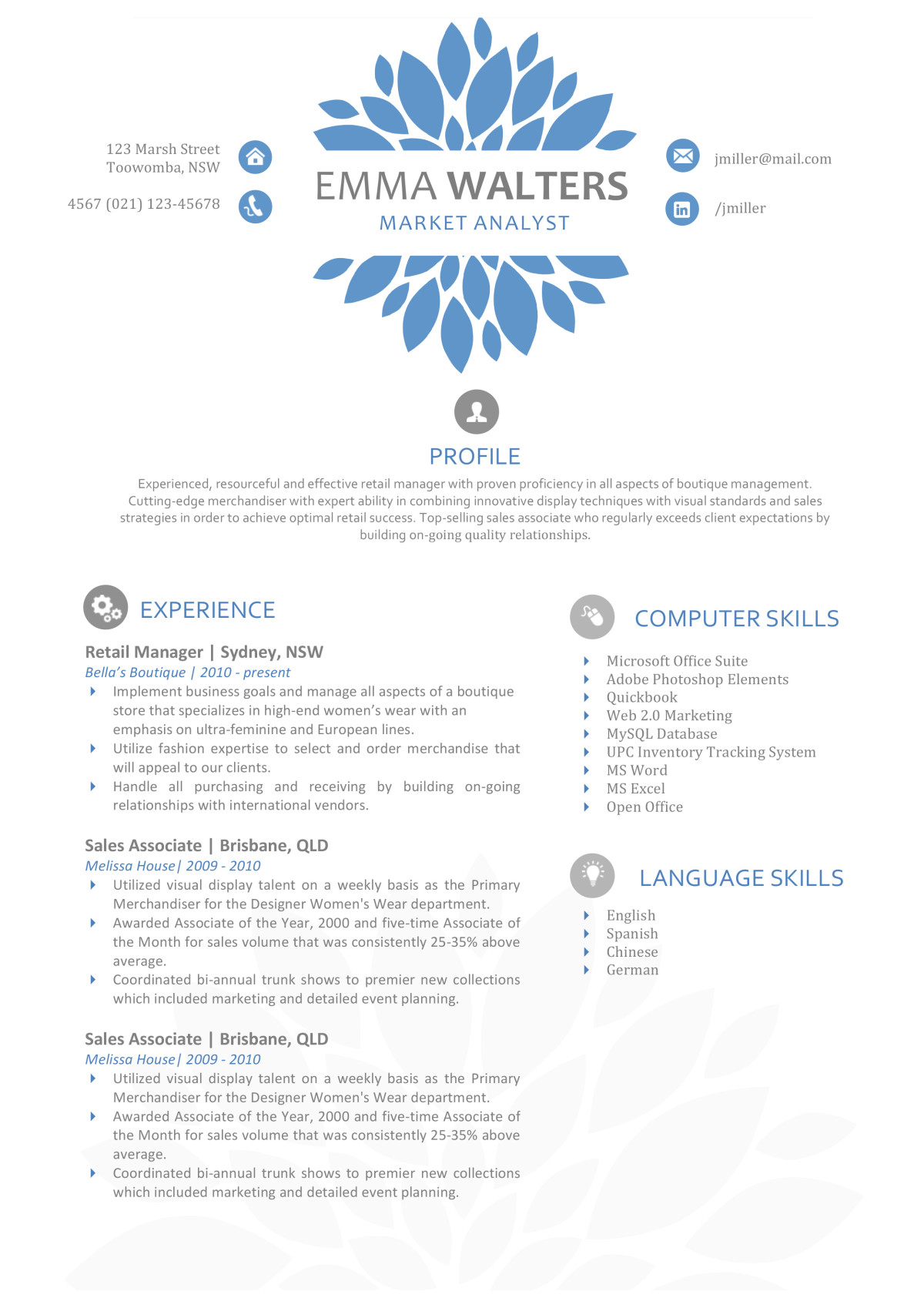 it resume template word