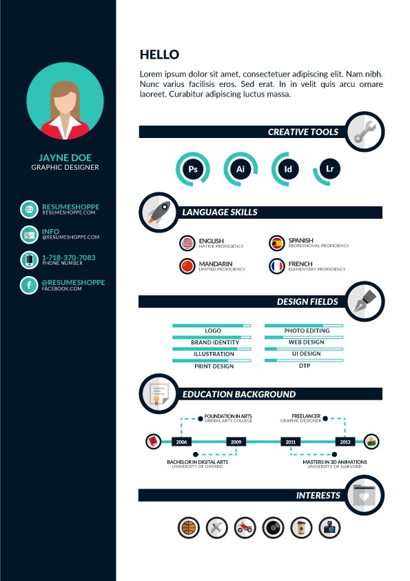 Download A Free Infographic Resume! No Strings Attached
