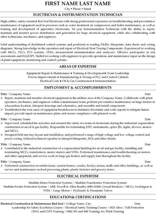 An example of a resume with common format with the name john doe. Top Trades Resume Templates Samples