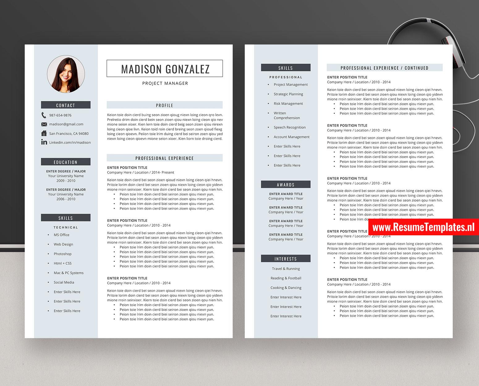 Design Simple Professional Cv Design Simple Cv Template - suratlamaran.com