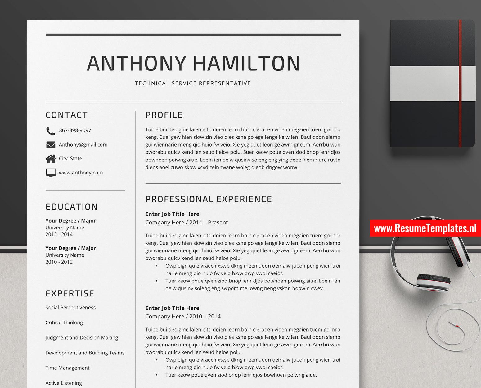 Minimalist CV Template / Resume Template Word. Curriculum Vitae. Modern Resume. Editable Resume. Professional Resume. Teacher Resume. 1-3 Page ...