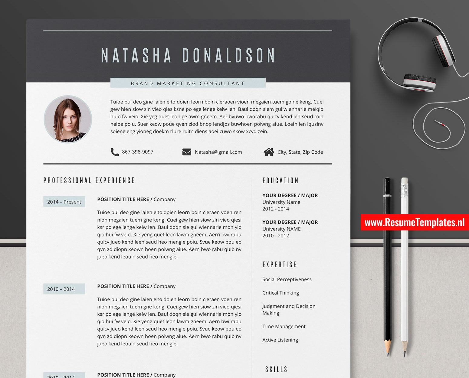 Modern CV Template / Resume Template for MS Word. Curriculum Vitae. Cover Letter. References. Professional and Creative Resume. Teacher Resume. 1 ...