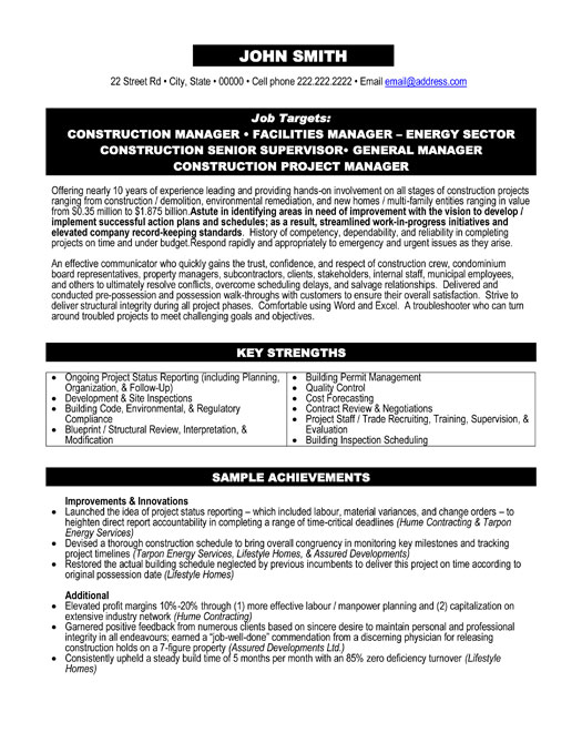 Project Manager Resume Template  Premium Resume Samples  Example