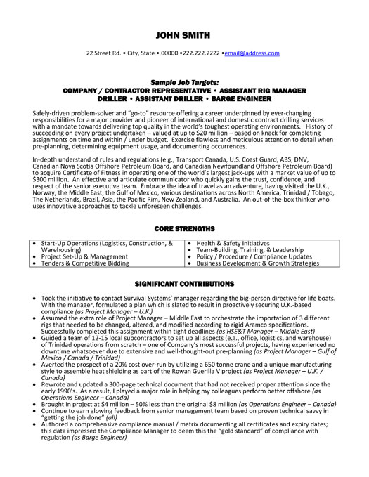 Contractor Representative Resume Template Premium Resume