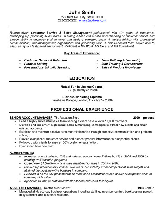 Senior Account Manager Resume Template  Premium Resume Samples  Example