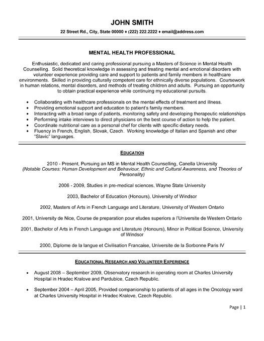 Health Resume Examples Sample Health Professional Resume 32 Best