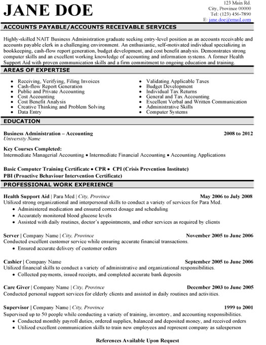 Accounts Payable Resume Template  Premium Resume Samples  Example