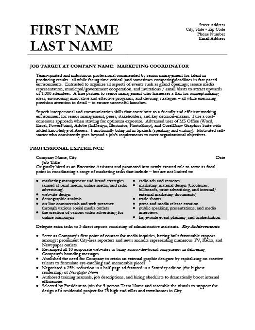 Marketing Coordinator Resume Template  Premium Resume