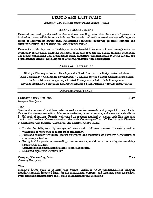 Branch Manager Resume Template Premium Resume Samples & Example