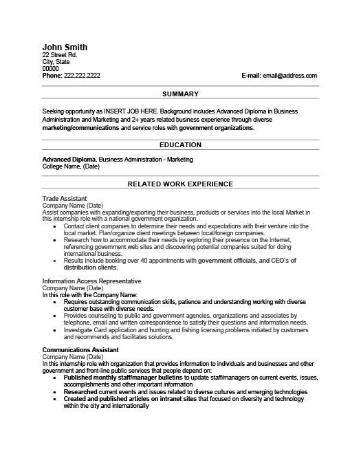 Trade Assistant Resume Template  Premium Resume Samples  Example
