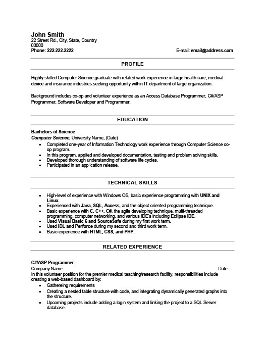 Recent Graduate Resume Template Premium Resume Samples & Example