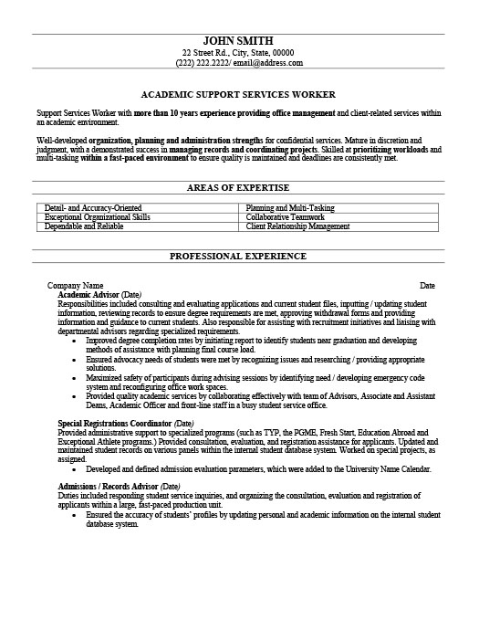 Academic Advisor Resume Template Premium Resume Samples & Example