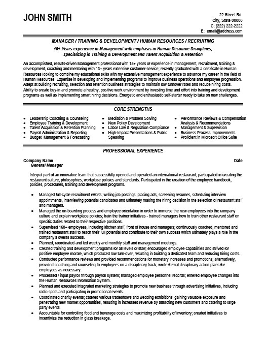General Manager Resume Template Premium Resume Samples & Example