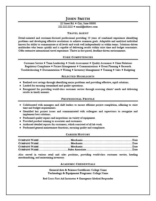 Travel Agent Resume Template Premium Resume Samples & Example
