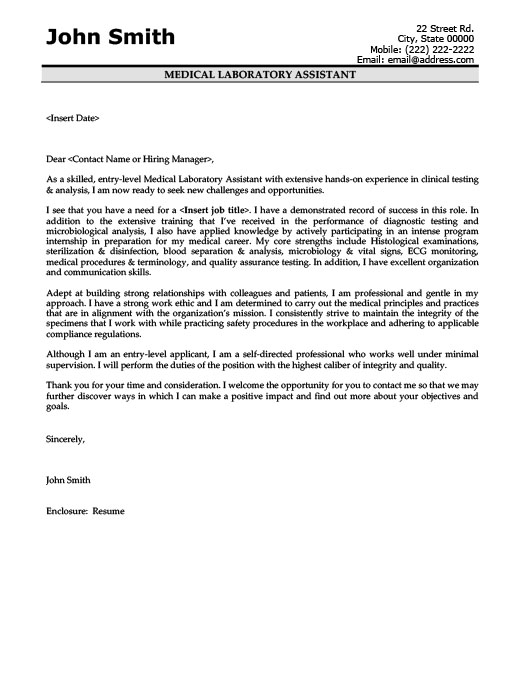 Sample Entry Level Dietitian Cover Letter