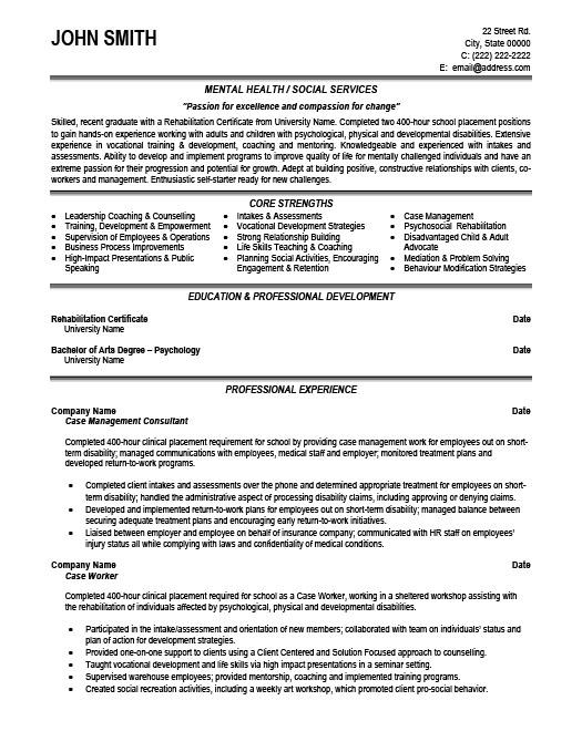 Case Management Consultant Resume Template Premium Resume