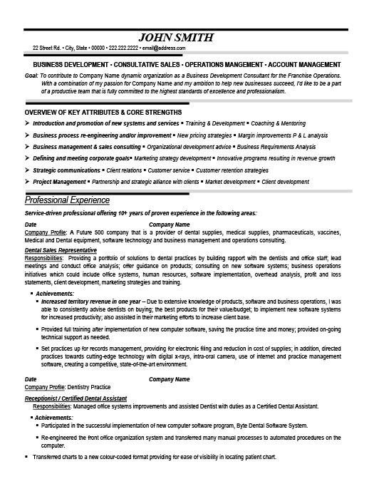 Dental Sales Representative Resume Template Premium Resume