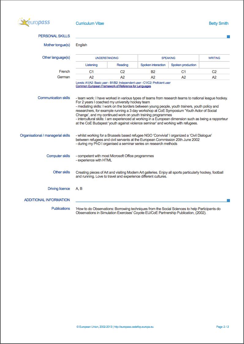 example job resume skills
